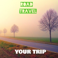 Road and travel and tree Instagram Post template