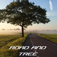ROAD AND TREE Portada de Álbum template