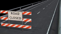 road closed YouTube-miniature template