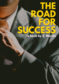 Road for success book cover A4 template