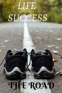 road life success Poster template