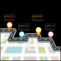 Road map vector colour road location Message Instagram template