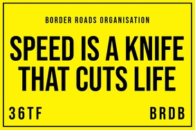 Road Organisation Speed Sign Board Template Banner 4' × 6'