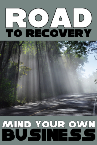Road to Recovery Póster template