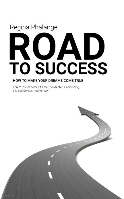 Road to success book cover template Capa do Kindle