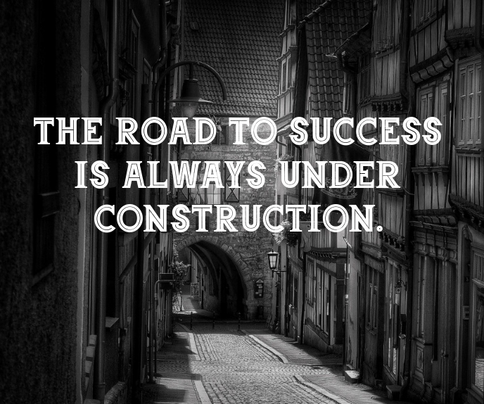 ROAD TO SUCCESS QUOTE TEMPLATE Grote rechthoek