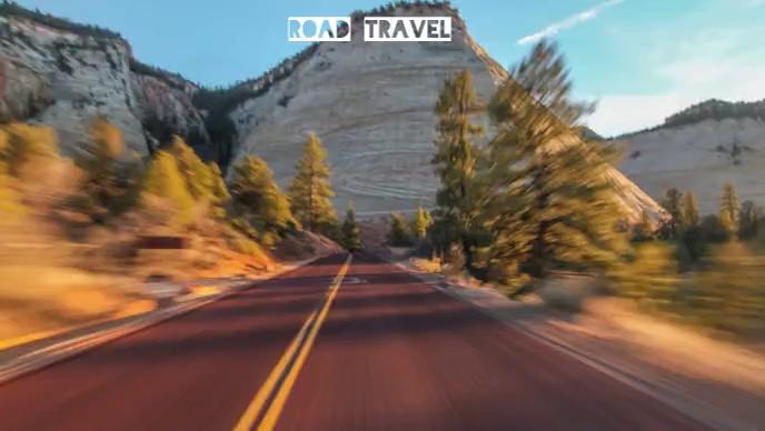 Road travel and fast journey Isithonjana se-YouTube template