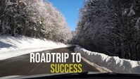 Road travel and Snow and driveway, YouTube Thumbnail template