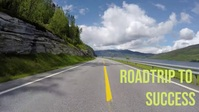 Road travel and traffic and driveway, YouTube Thumbnail template