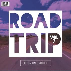 Road Trip album cover video instagram ad template