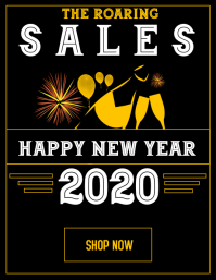 Roaring 20's new year sales advertisement
