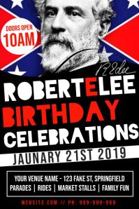 Robert E Lee Birthday Poster
