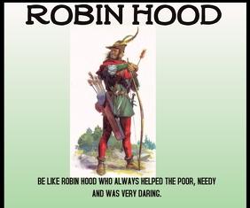 ROBIN HOOD QUOTE TEMPLATE Medium Rectangle