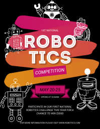 Robotics Competition Boot Camp Flyer Pamflet (VSA Brief) template