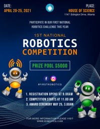 Robotics Competition for Beginners Flyer Pamflet (VSA Brief) template