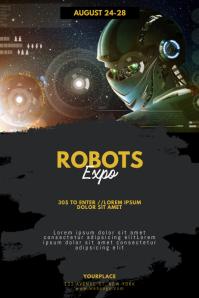 Robots Expo Fair Flyer Template โปสเตอร์
