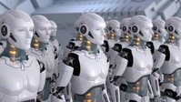 Robots in factory technology futuristic video YouTube 缩略图 template