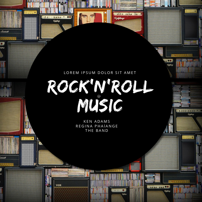 Rock'n'roll Album Cover Template Albumcover