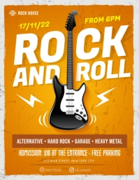 Rock & Roll Concert Flyer Template