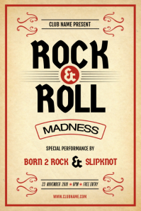 Rock & Roll Performance Poster Template