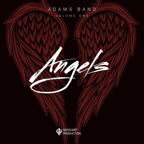 Rock Angel Wing Album Cover Template