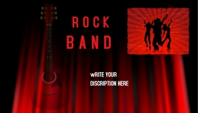 Rock band blog header Blog-Kopfzeile template