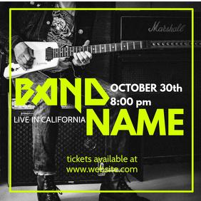 Rock band concert Instagram Template