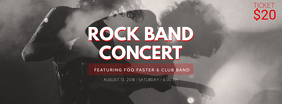 Rock Band Concert Ticket Template Facebook Cover Photo