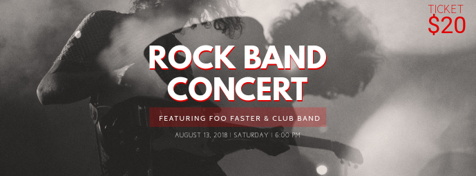 Rock Band Concert Ticket Template
