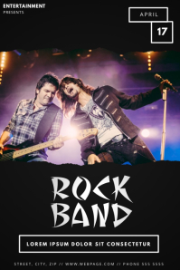 Rock Band Event Flyer Template