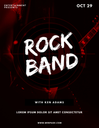 Rock Band Flyer Design Template