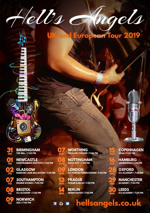 Rock Band Tour poster