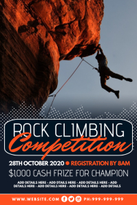 Rock Climbing Competition Poster template