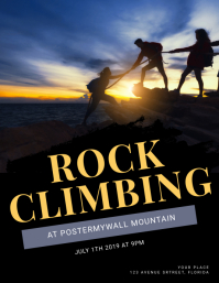 Rock Climbing Flyer Template