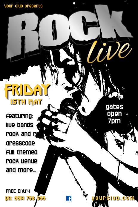Rock Club Poster