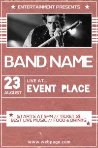 Rock Concert Band Event Poster Flyer Template