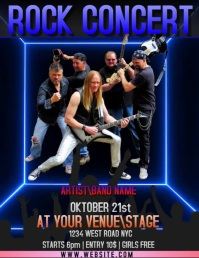 ROCK CONCERT EVENT FLYER AD template
