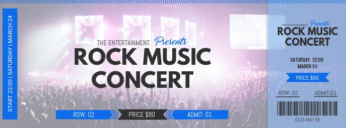 Rock Concert Event Pass Template