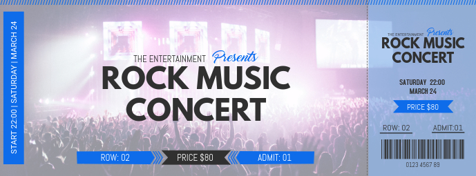 Rock Concert Event Pass Template