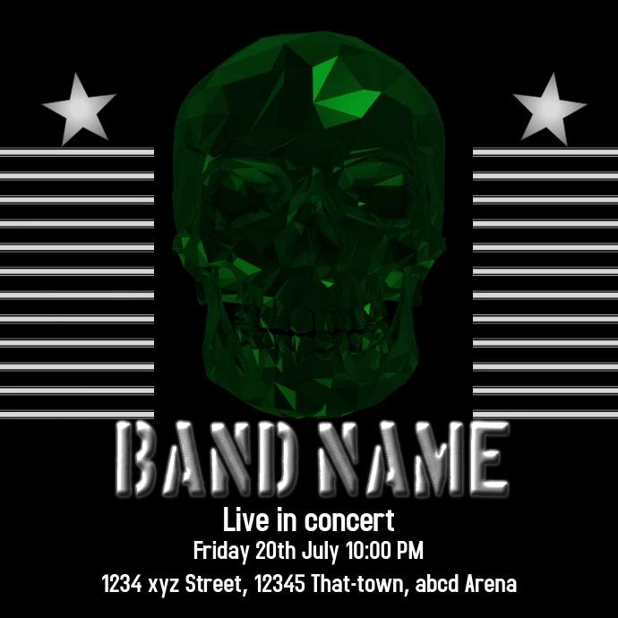 Rock concert Template instagram post