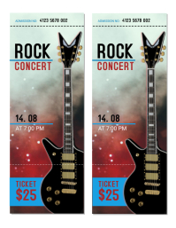 Rock Concert Tickets Template