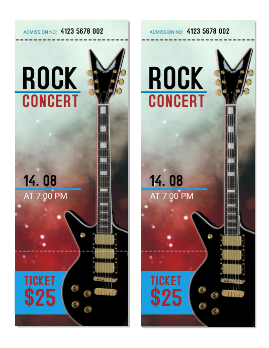 rock concert tickets template postermywall