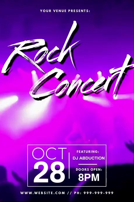 Rock Concert Video Poster Plakat template
