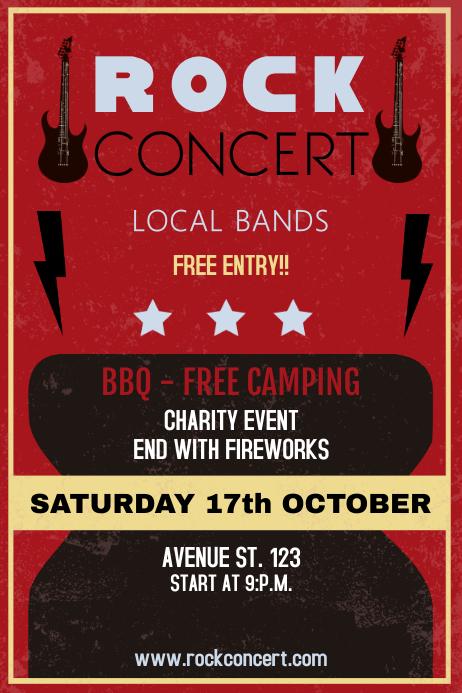 Rock concert Vintage poster template