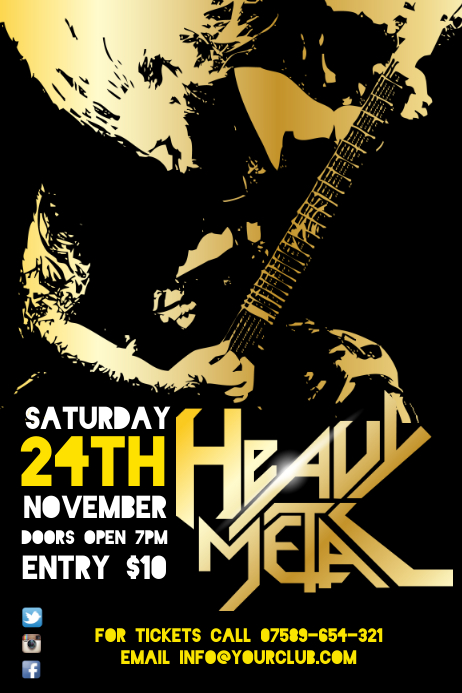 rock event poster