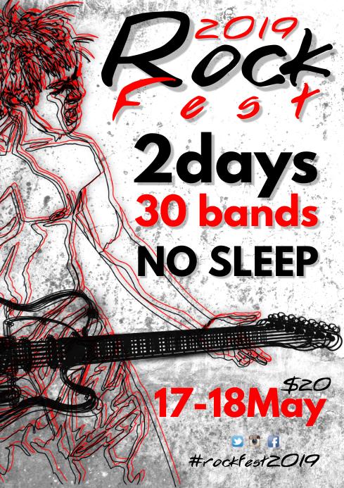 Rock Fest Flyer Template A4