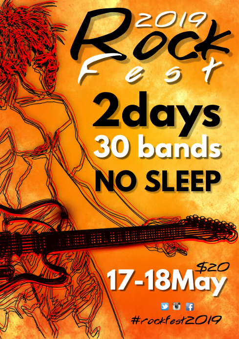 Rock Fest Flyer Template