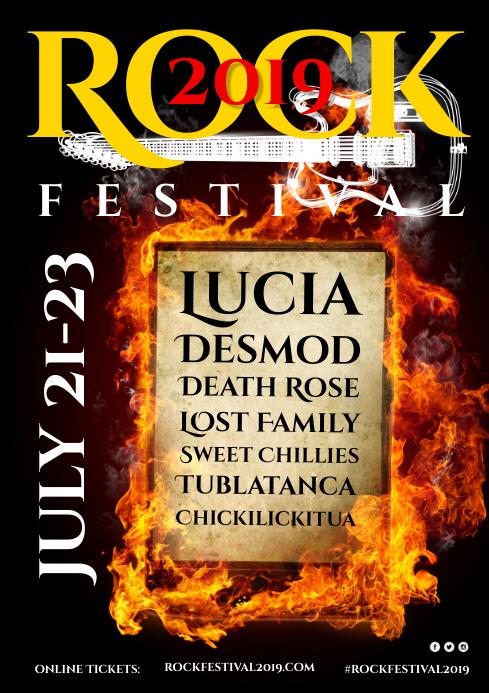 Rock Fest Poster A4 template