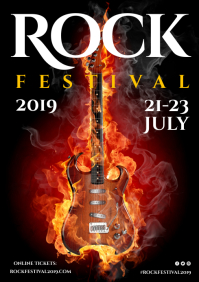 Rock Fest Poster A4 template