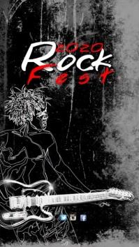 Rock Fest Video Template Digitalt display (9:16)